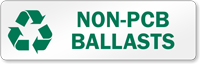 Non-PCB Ballasts Recycling Label