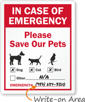 In Case Of Emergency Pet Window Decal