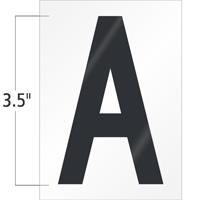3.5 Inch Tall Vinyl Letter A Black On White