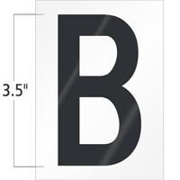 3.5 Inch Tall Vinyl Letter B Black On White