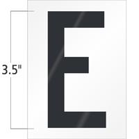 3.5 Inch Tall Vinyl Letter E Black On White