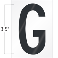 3.5 Inch Tall Vinyl Letter G Black On White