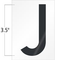 3.5 Inch Tall Vinyl Letter J Black On White