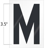 3.5 Inch Tall Vinyl Letter M Black On White