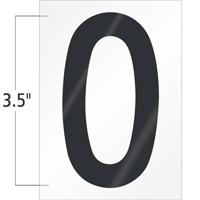 3.5 Inch Tall Vinyl Letter O Black On White