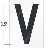 3.5 Inch Tall Vinyl Letter V Black On White