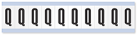 """Mylar 1"""" Numbers and Letters Character Black on white Q"""