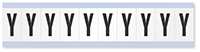 """Mylar 1"""" Numbers and Letters Character Black on white Y"""