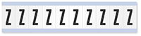 """Mylar 1"""" Numbers and Letters Character Black on white Z"""