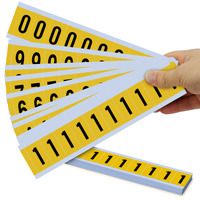 "Mylar 1"" Numbers and Letters Character Black on yellow 09Kit"