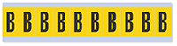 """Mylar 1"""" Numbers and Letters Character Black on yellow B"""