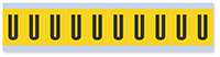 """Mylar 1"""" Numbers and Letters Character Black on yellow U"""