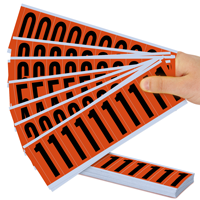 Mylar 2' Numbers and Letters Character black on orange 09Kit