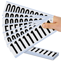 Mylar 2' Numbers and Letters Character Black on white 09Kit