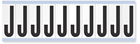 """Mylar 2"""" Numbers and Letters Character Black on white J"""