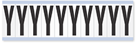 """Mylar 2"""" Numbers and Letters Character Black on white Y"""