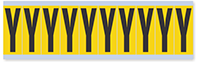 """Mylar 2"""" Numbers and Letters Character Black on yellow Y"""