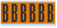"""Mylar 3"""" Numbers and Letters Character black on orange B"""