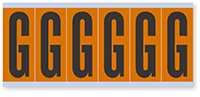 """Mylar 3"""" Numbers and Letters Character black on orange G"""