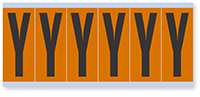 """Mylar 3"""" Numbers and Letters Character black on orange Y"""