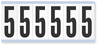 """Mylar 3"""" Numbers and Letters Character Black on white 5"""