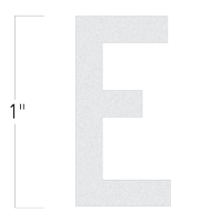 Die-Cut 1 Inch Tall Reflective Letter E White