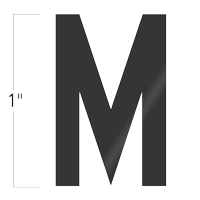 Die-Cut 1 Inch Tall Vinyl Letter M Black
