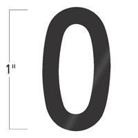 Die-Cut 1 Inch Tall Vinyl Letter O Black