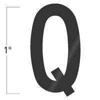 Die-Cut 1 Inch Tall Vinyl Letter Q Black