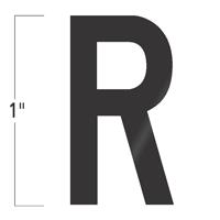 Die-Cut 1 Inch Tall Vinyl Letter R Black