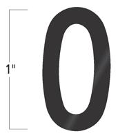 Die-Cut 1 Inch Tall Vinyl Number 0 Black