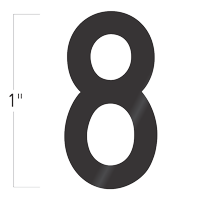 Die-Cut 1 Inch Tall Vinyl Number 8 Black