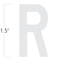 Die-Cut 1.5 Inch Tall Reflective Letter R White