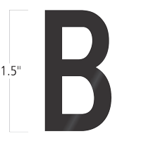 Die-Cut 1.5 Inch Tall Vinyl Letter B Black