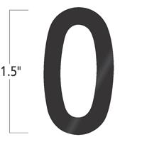 Die-Cut 1.5 Inch Tall Vinyl Letter O Black