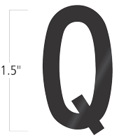 Die-Cut 1.5 Inch Tall Vinyl Letter Q Black