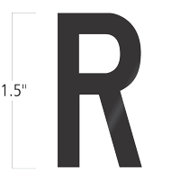 Die-Cut 1.5 Inch Tall Vinyl Letter R Black