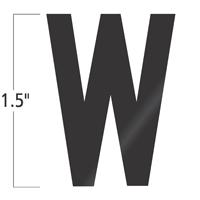 Die-Cut 1.5 Inch Tall Vinyl Letter W Black