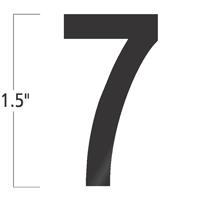 Die-Cut 1.5 Inch Tall Vinyl Number 7 Black