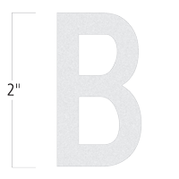 Die-Cut 2 Inch Tall Reflective Letter B White