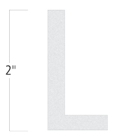 Die-Cut 2 Inch Tall Reflective Letter L White