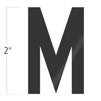 Die-Cut 2 Inch Tall Vinyl Letter M Black