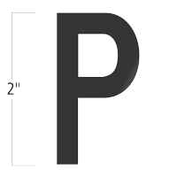 Die-Cut 2 Inch Tall Vinyl Letter P Black