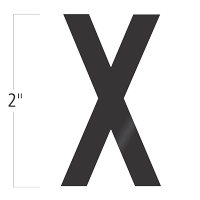 Die-Cut 2 Inch Tall Vinyl Letter X Black