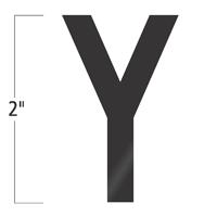 Die-Cut 2 Inch Tall Vinyl Letter Y Black