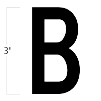 Die-Cut 3 Inch Tall Magnetic Letter B Black
