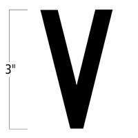 Die-Cut 3 Inch Tall Magnetic Letter V Black