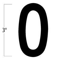 Die-Cut 3 Inch Tall Magnetic Number 0 Black