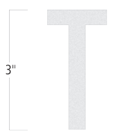 Die-Cut 3 Inch Tall Reflective Letter T White