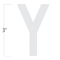 Die-Cut 3 Inch Tall Reflective Letter Y White